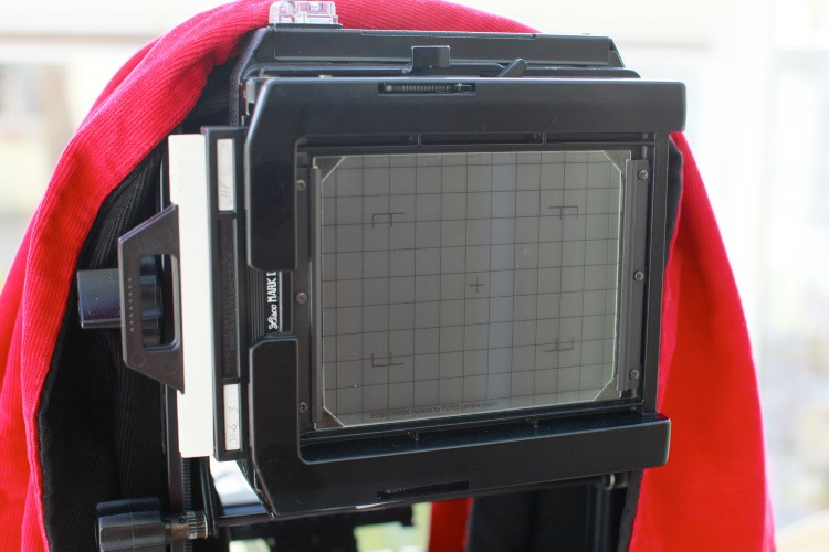 Large Format camera with Film Loaded.
